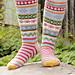 193-1 Winter Carnival Socks pattern