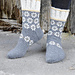 193-7 b Winter Daisies Socks pattern