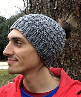 """Beanie's open top is perfect for a guy """"Man Bun."""""""