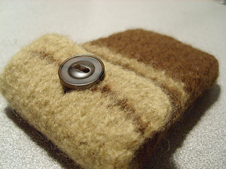 Felted iPod cozy.