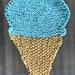 Ice Cream Cone Dishcloth pattern