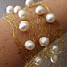 Wire and Pearl Cuff pattern