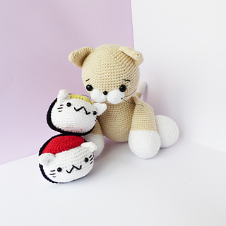 Sushi Cat Crochet with all the different sushi types! : crochet | 320x320