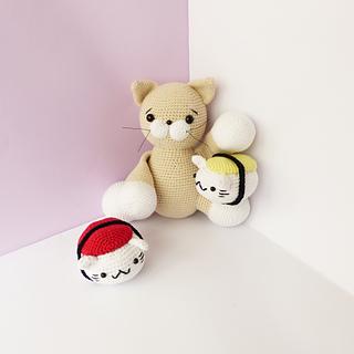 Amigurumi Crochet Play Food Sushi Rolls - Set of 6 | Crochet food ... | 320x320