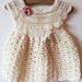 Robe pour bébé au crochet pattern
