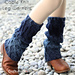 Cable Knit Ombre Leg Warmers pattern