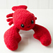 Felted Knit Amigurumi Lobster pattern