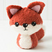 Felted Knit Amigurumi Fox pattern