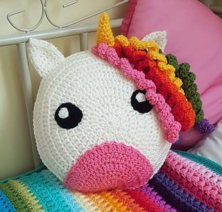 Unicorn Cushion pattern by Gina Rahman