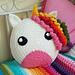 Unicorn Cushion pattern