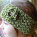Zigzag Headband with Puffy Flower pattern