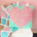 Geometric Heart Cushion pattern