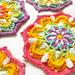 Vintage Rainbow Mandala pattern