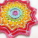 Rainbow Star Mandala pattern