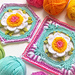 Picture Perfect Peony Square & Hexagon pattern