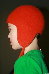 Felted Helmet Hat