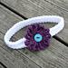 Headband with Yarn Daisy pattern