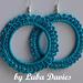 Earrings-hoops LACE pattern