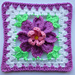 Flower in granny square (3) pattern