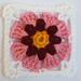 LD-0114 floral afghan block pattern
