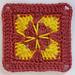 LD-0115 floral afghan block pattern