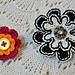Button Flower Pin pattern