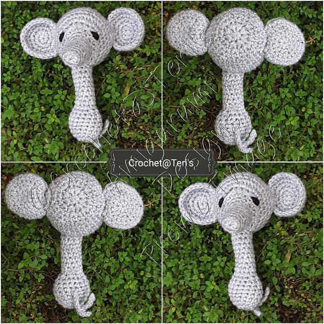 Ravelry: Elephant comforter pattern by Christine Harvey | 640x640