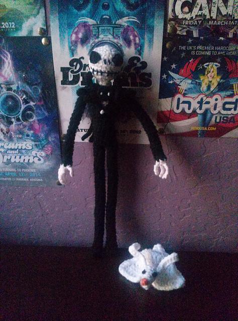 Jack Skeleton Amigurumi - Patrón [GRATIS] | 640x474