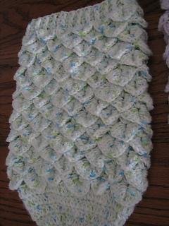 Ravelry: Crocodile Stitch Newborn Baby Cocoon pattern by ...