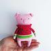 Amigurumi Piggy in sweater pattern