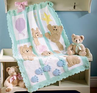 Bear Love Blanket Crochet pattern UK – Kerry Jayne Designs | 308x320