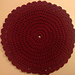 Round Double-Thick Hot Pad/Potholder pattern