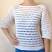 Striped Eyelet Sweater pattern
