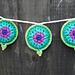 Lotus Mandala Prayer Flags pattern