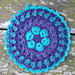 African Flower Mandala Pot Holder pattern