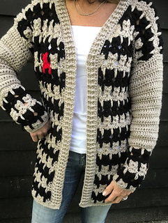 CAT CARDIGAN pattern by CroJennifer