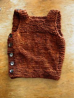 Henry's Pebble Vest, buttoned