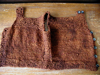 Henry's Pebble Vest, unbuttoned
