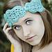 scallops and lace turban headband pattern