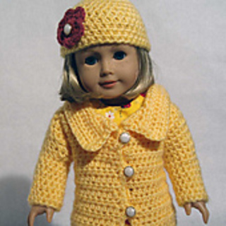 Crocheted American Girl Doll Dress Pattern | Crochet doll clothes ... | 320x320