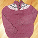 Fair Isle Yoke Sweater with Henley Neck SO03 pattern