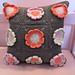 Peach Flower Granny Square Pillow pattern
