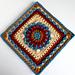 Floral Dimension Afghan Square pattern