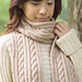 67-3 Cabled Scarf pattern
