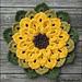 Topflappen Sonnenblume pattern
