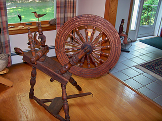 Ravelry Deb0321 S Antique Spinning Wheel