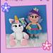 Chubby Unicorn and Fairy pattern