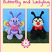 Butterfly and Ladybug pattern