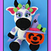Halloween Cow and Pumpkin pattern