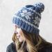 Knit Frozen Snowflakes Beanie pattern